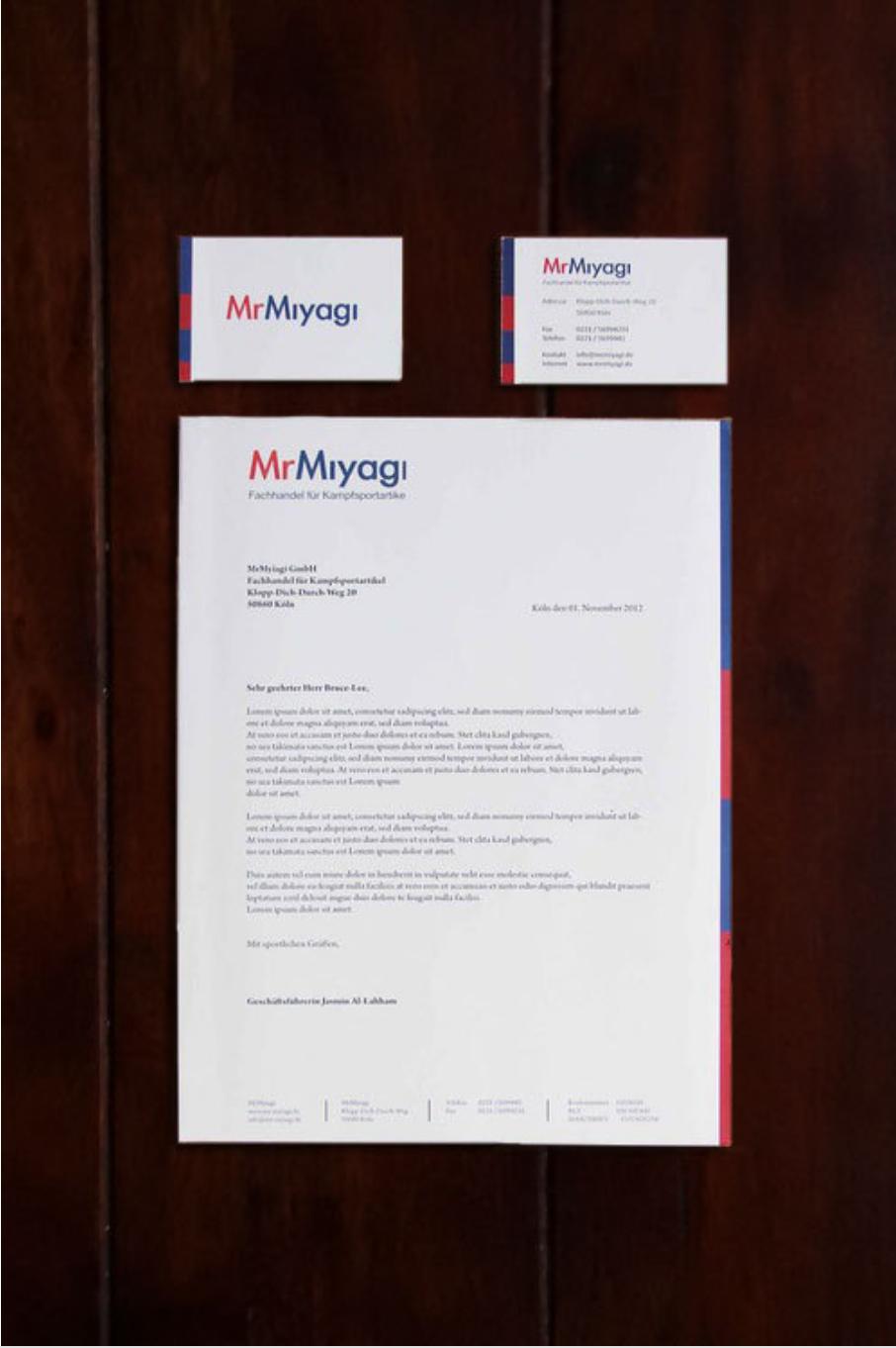 Erstellung einer Scheinfirma in einer Typografie-Lehrveranstaltung, 2012