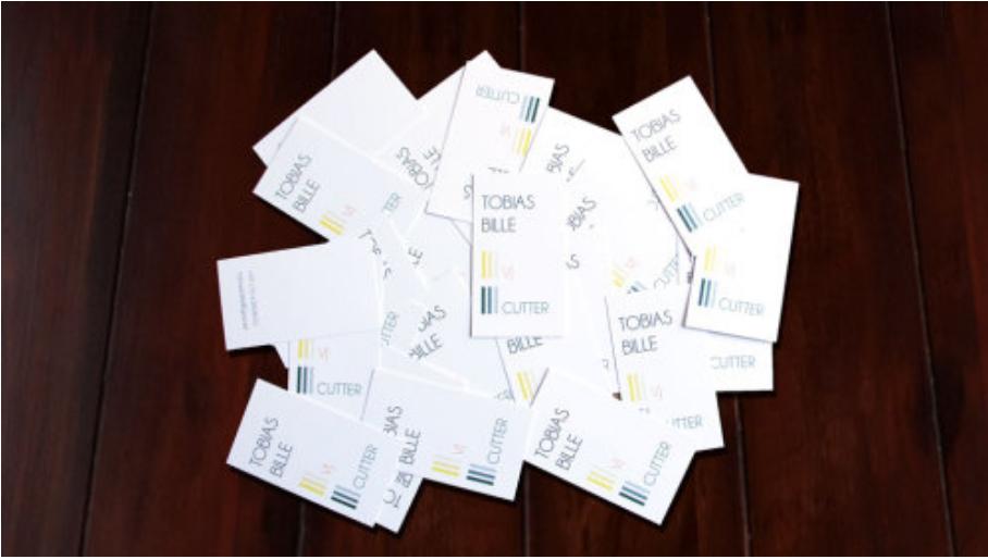 Entwurf, Konzeption und Realisation einer Visitenkarte mit dem  Themenschwerpunkt Filmschnitt und Visuals, 2013