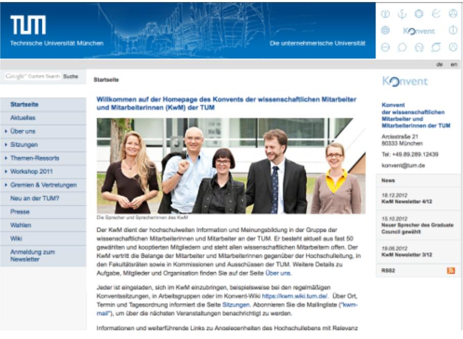 Logogestaltung für das Konvent der wissensch. Mitarbeiter der TU München, 2009