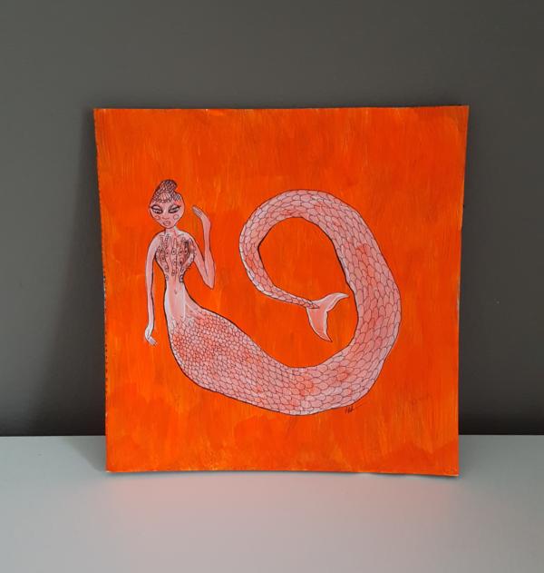 Little neon mermaid