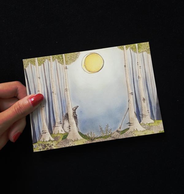 Postkarte Witch