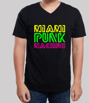 Miami Punk Machine T-Shirt Neon