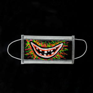 bloody smile mask